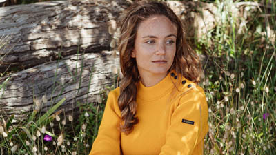 vrai pull marin traditionnel pour femme jaune marin