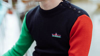 Pull marin tricolore 100% made in France pour homme