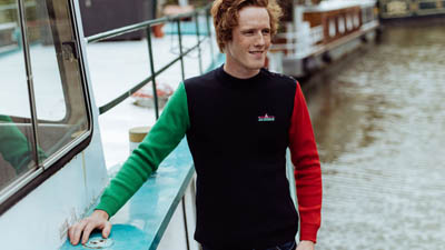 pull marin a manches contrastees pour homme babord tribord
