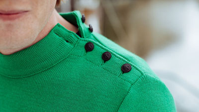 pull marin vert pour homme le minor