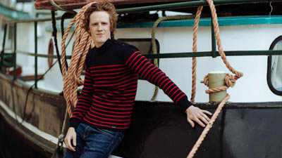authentique pull marin homme chandail marin rouge