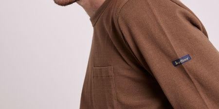 Teeshirt manches longues marron Made in France